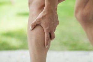 Ansicht Muskelkrampf Wade