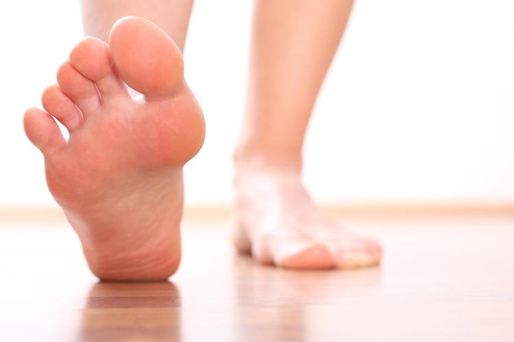Füße, laufen.